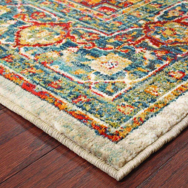 Woven - Sedona Red Multi Oriental Medallion Transitional Rug