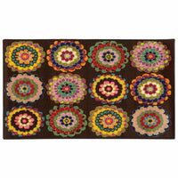 Serendipity Brown Pink Juvenile Floral Children's Rug - Free Shipping
