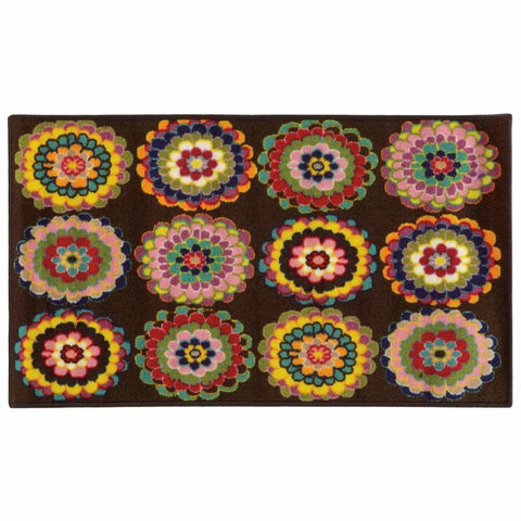 Serendipity Brown Pink Juvenile Floral Children's Rug