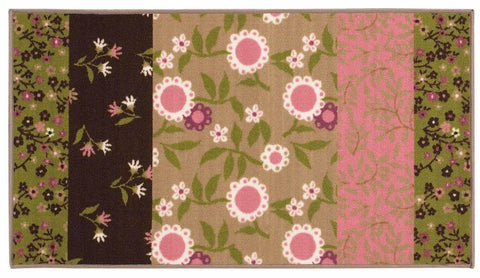 Oriental Weavers Serendipity Brown Pink Juvenile Floral Children's Rug