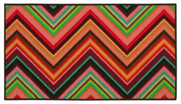 Serendipity Pink Orange Juvenile Chevron Children's Rug - Free Shipping