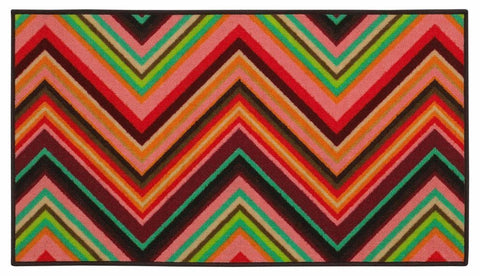Oriental Weavers Serendipity Pink Orange Juvenile Chevron Children's Rug