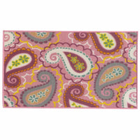 Serendipity Pink Purple Juvenile Paisley Children's Rug - Free Shipping