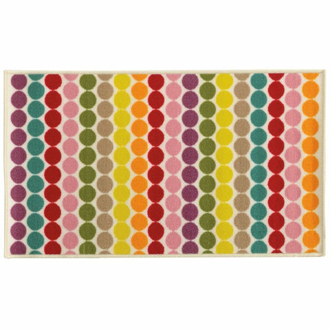 Oriental Weavers Serendipity White Multi Juvenile Circles Children's Rug