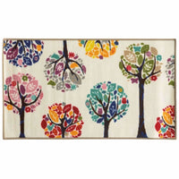 Serendipity White Multi Juvenile Trees Children's Rug - Free Shipping