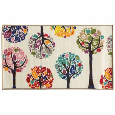 Oriental Weavers Serendipity White Multi Juvenile Trees Children's Rug