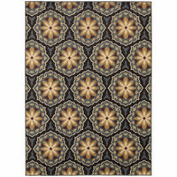 Stratton Blue Brown Floral  Transitional Rug - Free Shipping