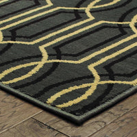 Woven - Stratton Blue Ivory Geometric Lattice Transitional Rug