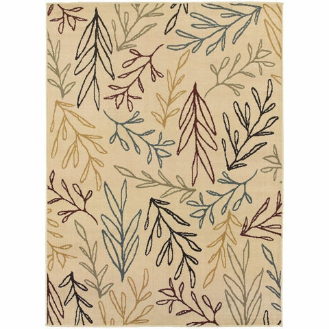 Oriental Weavers Stratton Ivory Multi Floral Botanical Transitional Rug