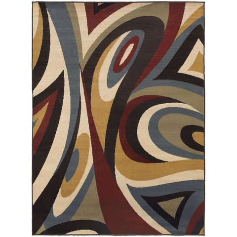 Oriental Weavers Stratton Multi Multi Abstract Swirl Transitional Rug