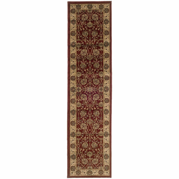 Oriental Weavers Tybee Red Beige Floral  Traditional Rug