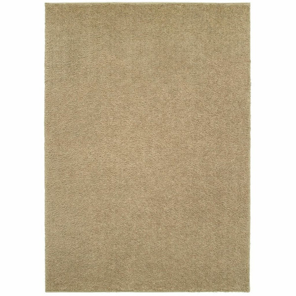 Verona Beige Beige Solid Solid Casual Rug - Free Shipping