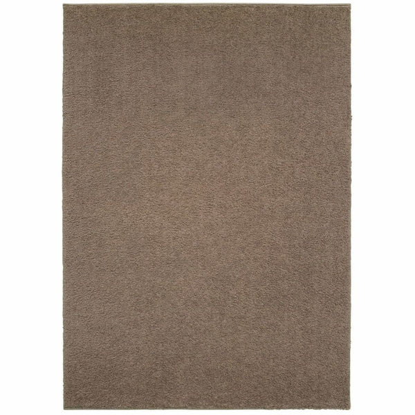 Verona Brown Brown Solid Solid Casual Rug - Free Shipping