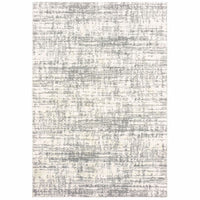 Verona Ivory Grey Abstract Distressed Casual Rug - Free Shipping