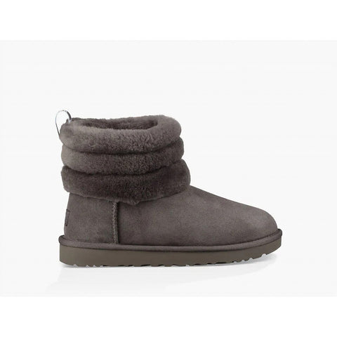 Ugg Women' Fluff Mini Quilted Boot Charcoal
