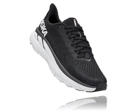Hoka One One Women's CLIFTON 7 Wide BLK/WHITE