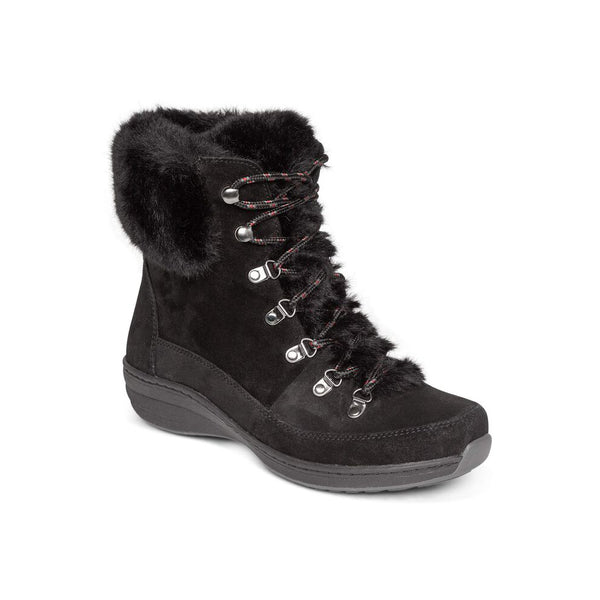 Aetrex Jodie Fur Arch Support Waterproof Winter Boot