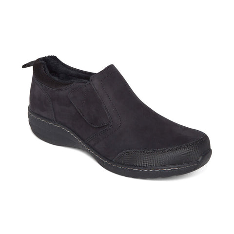 Aetrex Tyra Monk Strap Slip-On Black