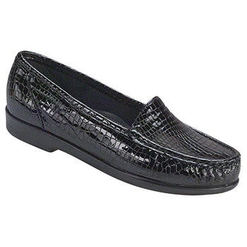 SAS Simplify Women's Slip On Loafer - Black Croc