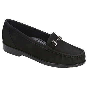 SAS Metro Women's Slip On Loafer - Charcoal Nubuck