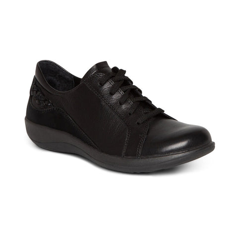 Aetrex Dana Lace Up Oxford Black
