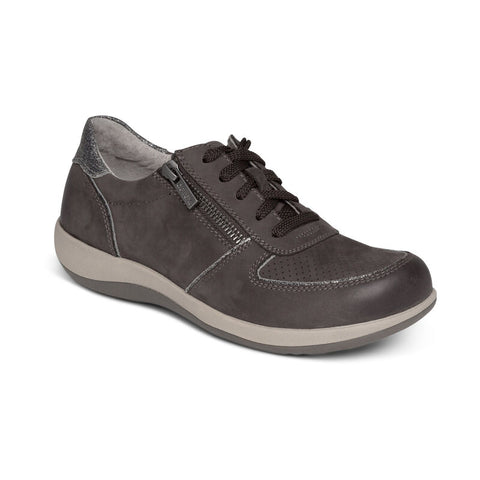 Aetrex Roxy Arch Support Casual Sneaker Charcoal