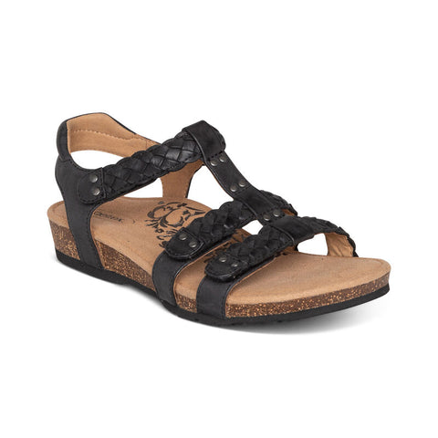 Aetrex Reese Adjustable Gladiator Sandal