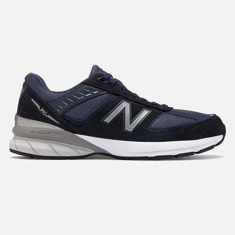 New Balance Mens 990 v5 Navy/Silver