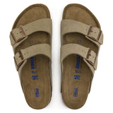 Birkenstock Arizona Soft Footbed Suede Leather Taupe