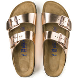 Birkenstock Arizona Soft Footbed Leather Metallic Copper