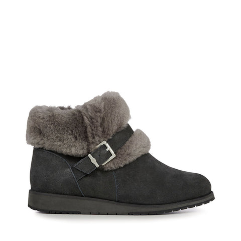 Emu Australia Women's Oxley Fur Cuff Boot Dark Grey