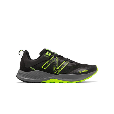 New Balance Men's NTREL Trail Runner Black/Lime