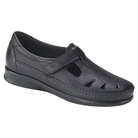 SAS Roamer Black Slip-on