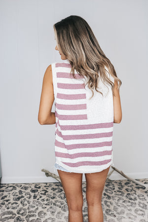 Stars and Stripes Lightweight Sweater Tank