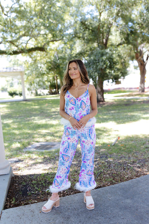 Multicolor Tinsel Knit Sweater