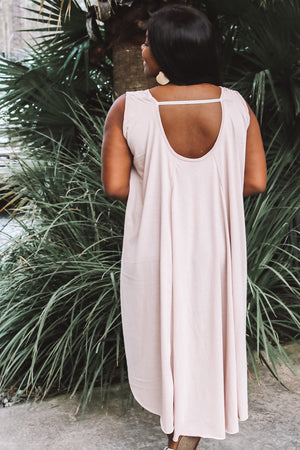 Oversized Cotton Sleeveless Swing Dress