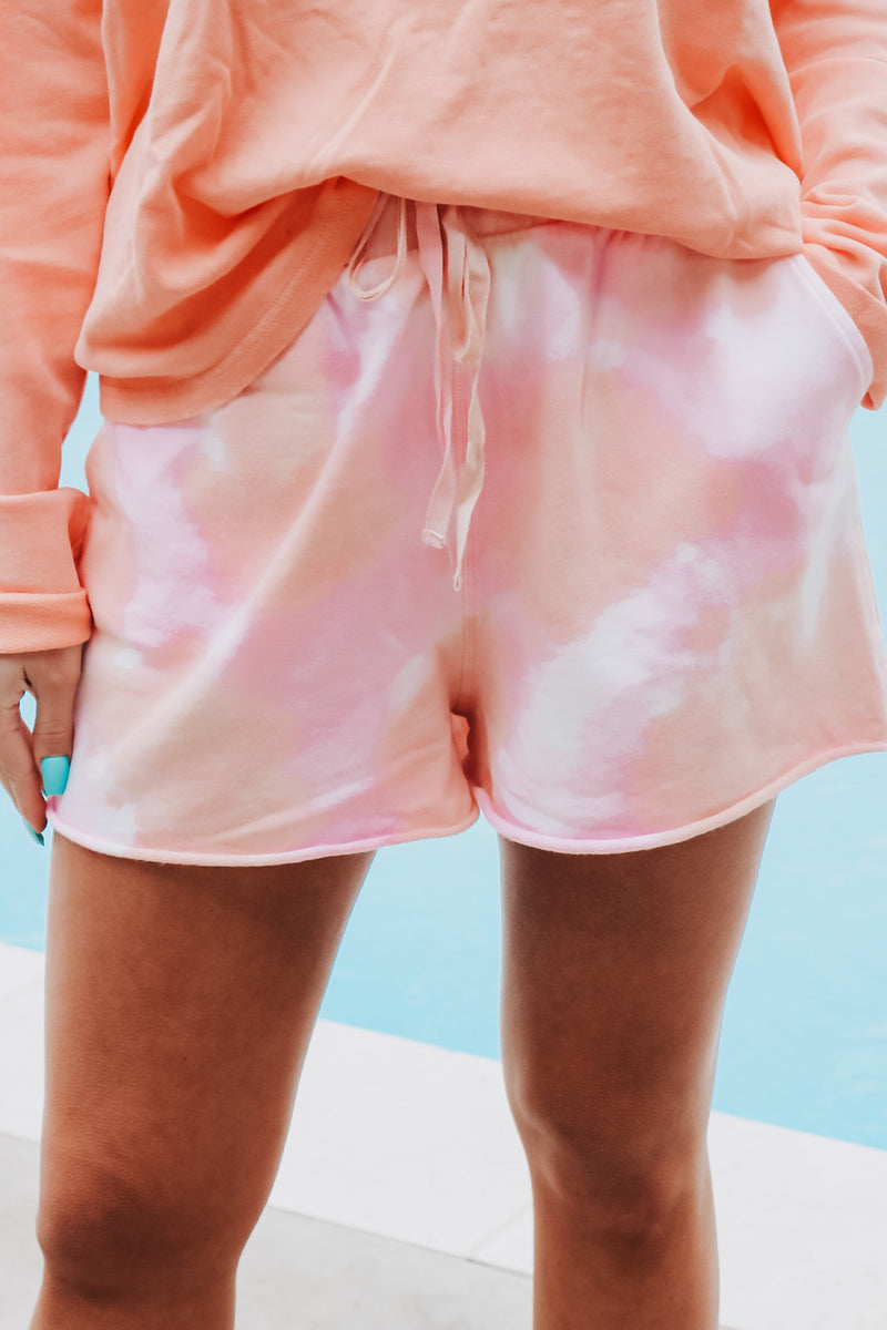Dreamsicle Tie Dye Shorts