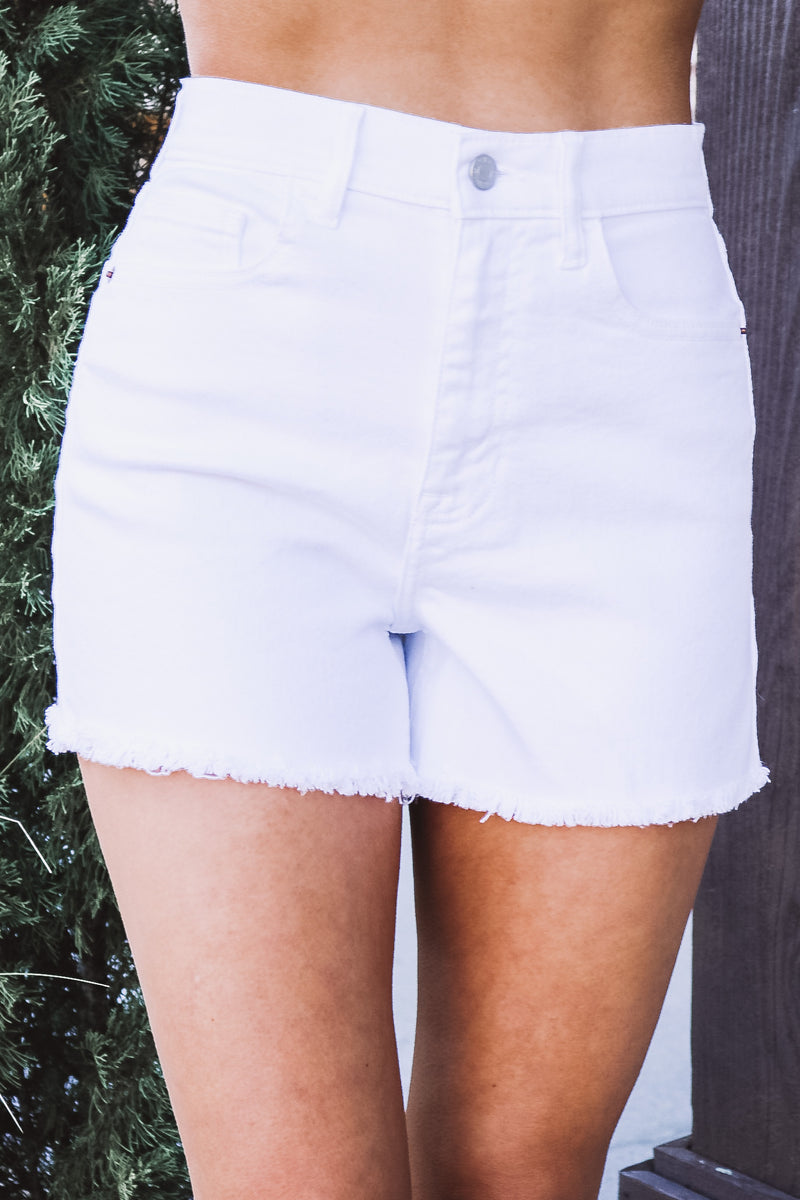 White Easy High Rise Mom Short
