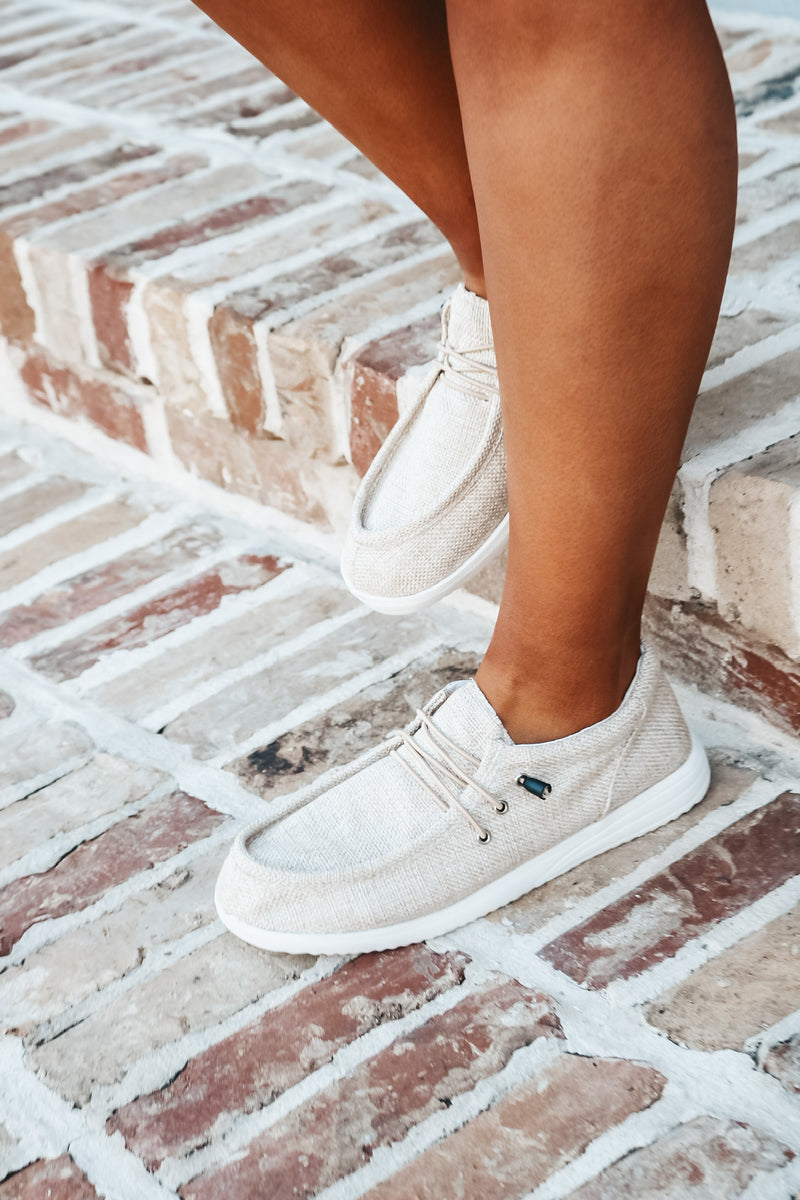 Natural Slip On Loafer Sneaker