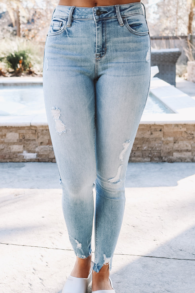 Hidden Denim Light Wash Skinny