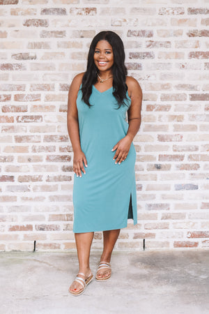 Sleeveless Midi Tank Dress