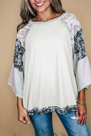 Boho Mix and Match Print Loose Fit Top