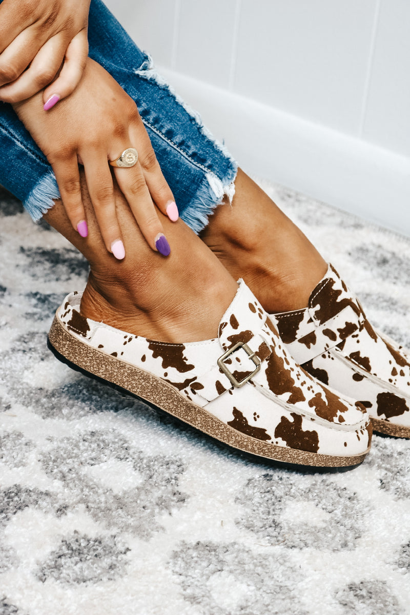 Cow Slip On Loafer Sandal
