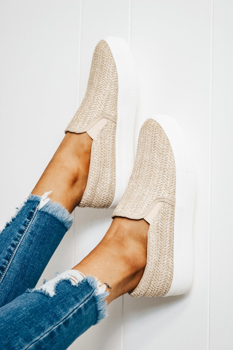 Natural Espadrille Slip On Sneaker
