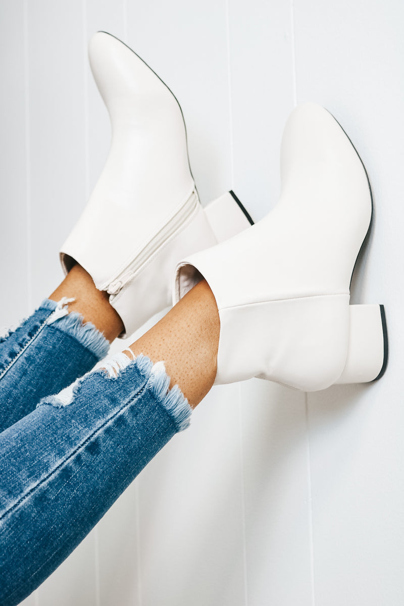 Simple White Bootie