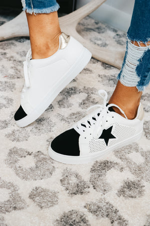 Shining Star Sneakers in Gold