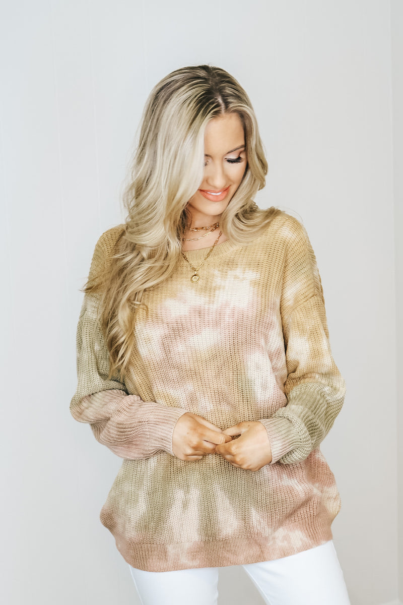 Mauve and Gold Lightweight Back Detail Sweater