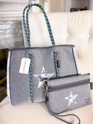 PreneLOVE Light Camo Star Large Tote