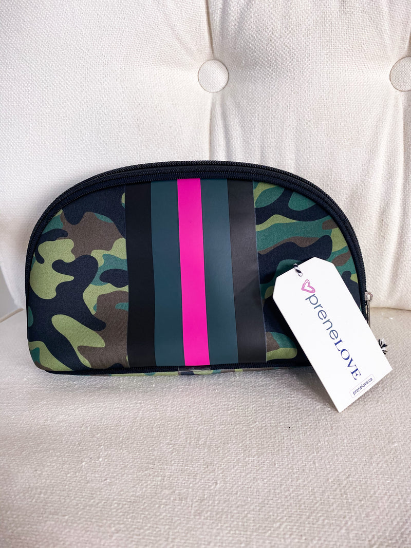 PreneLOVE Pink Army Cosmetic Bag