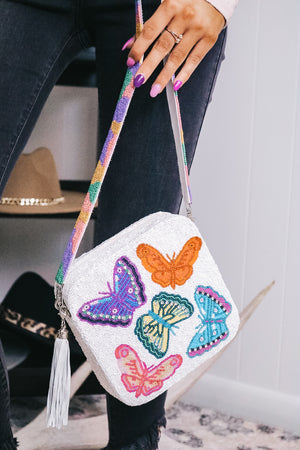 Moyna Butterfly Beaded Crossbody